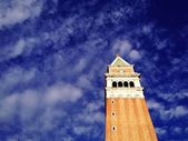 The top of the campanile bell tower — Stock Photo