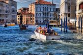 Water taxi in the Grand Canal — Stock Photo