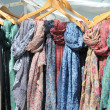 Colored ethnic scarfs — Stockfoto