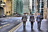 Business men in London, Canary Wharf — Stock Photo