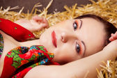 Russian beauty — Stock Photo