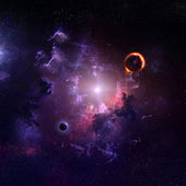 Starfield stardust and nebula space art galaxy creative background — Stock Photo