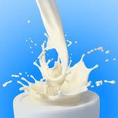 Splash of white milk — Stock Photo