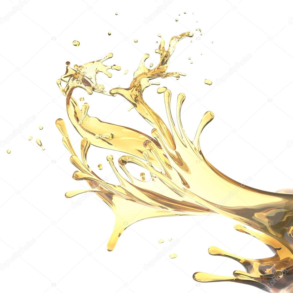 Abstract design template splashes of yellow oil isolated on white background — Stock Photo #13898973
