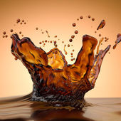 Splashes of brown hot chocolate isolated — Stock Photo