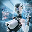 Futuristic female android — Stock Photo