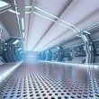 Futuristic design spaceship interior — Foto Stock