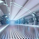 Futuristic design spaceship interior — Stock Photo