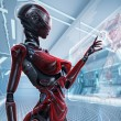 Futuristic female android — Stock Photo #31457889
