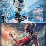 Futuristic female android — Stock Photo #31457909