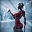 Futuristic female android — Stockfoto