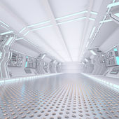 Futuristic design spaceship interior — 图库照片