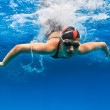 Female professional swimmer — Stock Photo