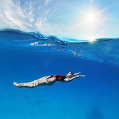 Female professional swimmer — Stock Photo