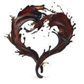 Coffee in shape of heart — Stock Photo