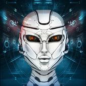 Stylish cyborg head — Stock Photo