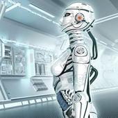 Female high detailed robot — Stock Photo