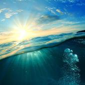 水下和阳光 — 图库照片