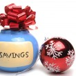 Stock Photo: Christmas savings