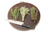 Hebs on a chopping board — Stock Photo