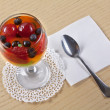 Fruit jelly with berries in glasses — Stock Photo