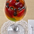 Fruit jelly with berries in glasses — Stock Photo #14861789