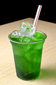 Green cocktail with ice — Stock Photo