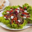 Vegetable salad with roasted meat — Stock Photo #19099479