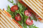A delicious sandiwch with tomatos — Stock Photo
