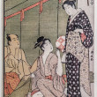 Tea ceremony. traditional japanese engraving ukiyo-e — Stock Photo #27918279