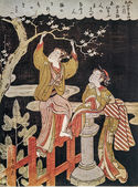 Plum Tree at the Waters Edge, Suzuki Harunobu — Stock Photo