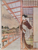 Suzuki Harusige. Beauty on a terrace of the house — Zdjęcie stockowe