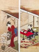 Katsukawa shunsho. traditionella japanska gravyr ukiyo-e. — Stockfoto