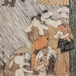 Stock Photo: KitagawUtamaro. Shower. Traditional japanese engraving ukiyo-e.