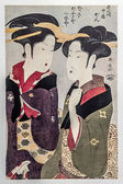 Nakai Kan and Geisha Fuseya, Eishosai Choki — Stock Photo