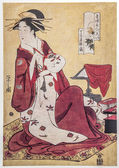 Chōbunsai Eishi. The Courtesan Hinazuru of the Teahouse Chojiya (House of the Clove) — Stock Photo