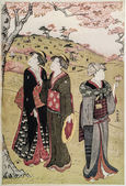 Gravure japonaise traditionnelle ukiyo-e. — Photo