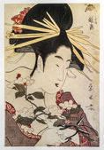 Hosoda eishi. Gravure japonaise traditionnelle ukiyo-e — Photo