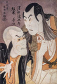 Toshusai Sharaku. Portrait of the actors Sawamura Edogoro and Bando Jenji — Zdjęcie stockowe