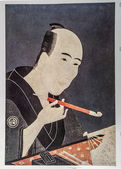 Chokyosai Eiri. Portrait of Santo Kyoden, the Master of Kyobashi — Stock Photo