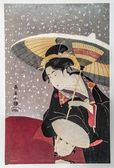 Eishosai Choki. Courtesan in snow — Stock Photo