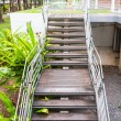 Ladder way stairway leading up to up or down stair in park — Stock Photo