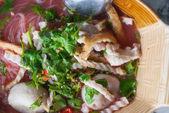 Tom yum noodle soup. Thai style spicy noodle soup - Thai cuisine — Stock Photo