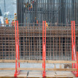 Reinforcement Steel bar grid at Construction site — Stock Photo