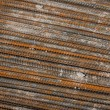 Rusty rebar steel used in construction background texture — Stock Photo #35421839