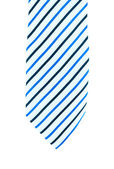 Blue and white line Square Tie - a necktie on white background isolated — Stock fotografie