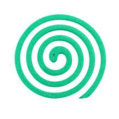 Mosquito coil - Anti mosquito green color - insecticides, coils - anti mosquito smoke spiral isolated on the white background — Stockfoto