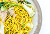Fried noodles Japanese Yakisoba — Stock Photo