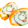 Sushi. California roll closeup isolated on white background — Stock Photo