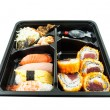 Stock Photo: Closeup of sushi in Japanese Lunch box (Bento) Sushi Bento